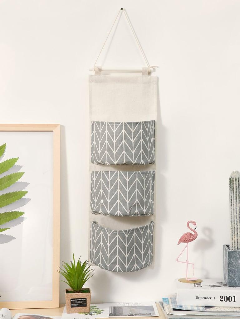 Geometric Pattern Hanging Storage Bag