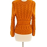 Oscar de la Renta Tangerine Cable-Knit Sweater ($250)