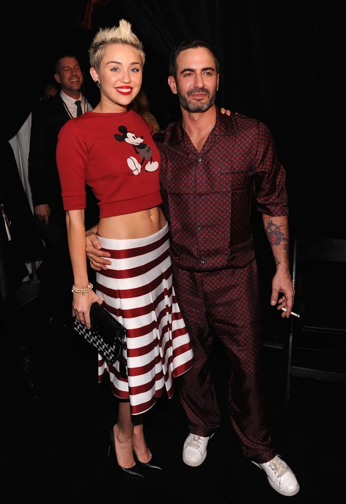 Miley Cyrus beefed up her fashion cred on Feb. 14 when she attended New York Fashion Week and mingled with designer Marc Jacobs backstage.