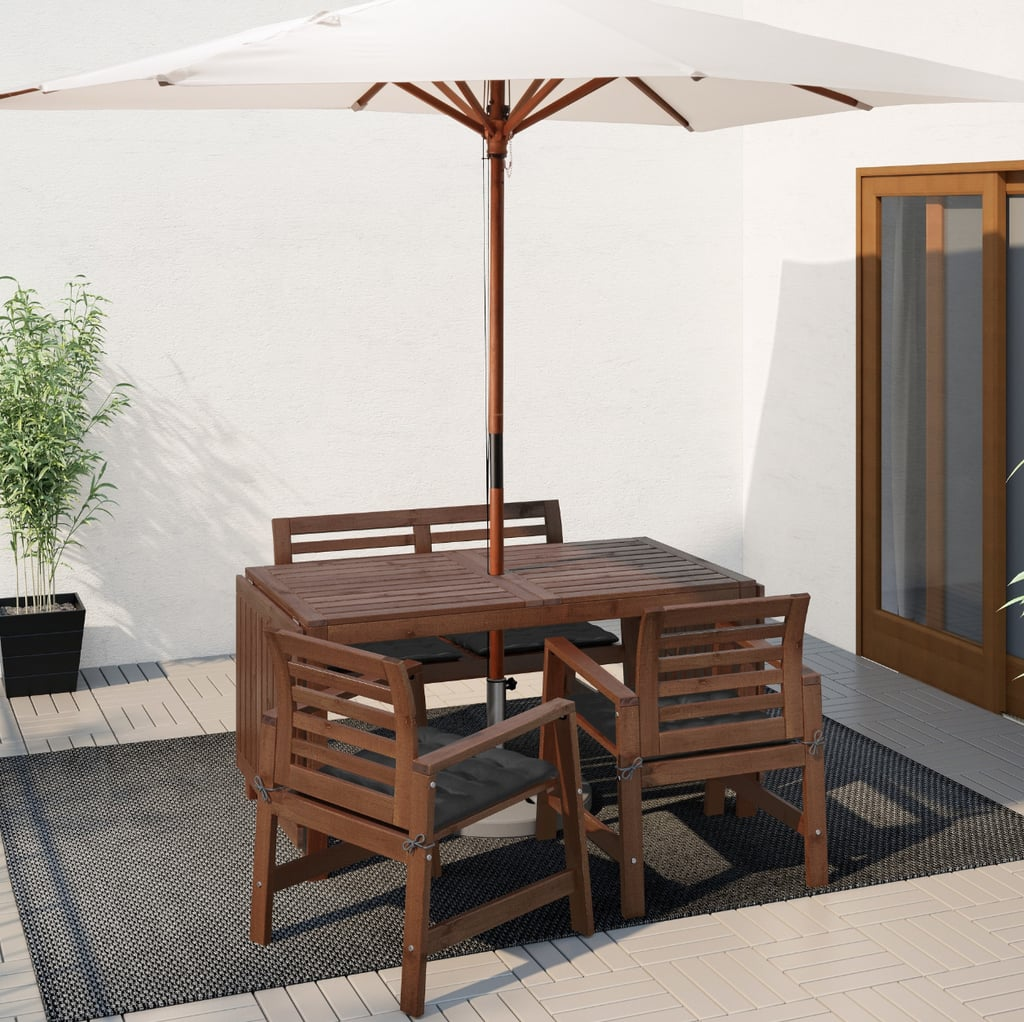 Äpplarö Table With 2 Armchairs and Bench