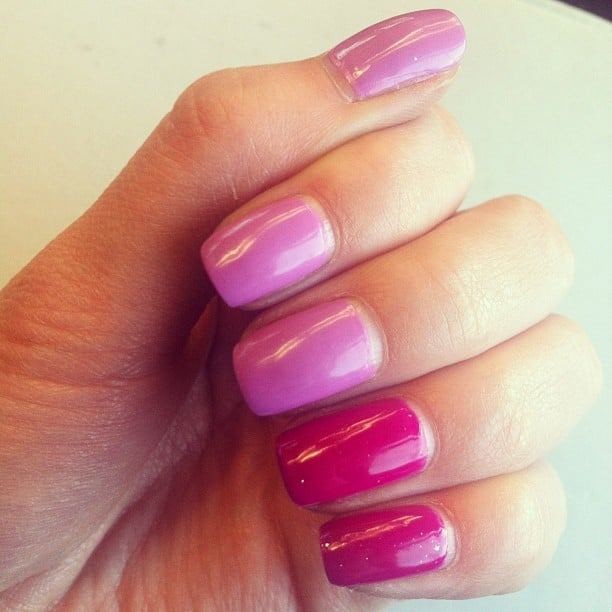 A pink ombré manicure is a fun Spring look. Source: Instagram user kristyclem