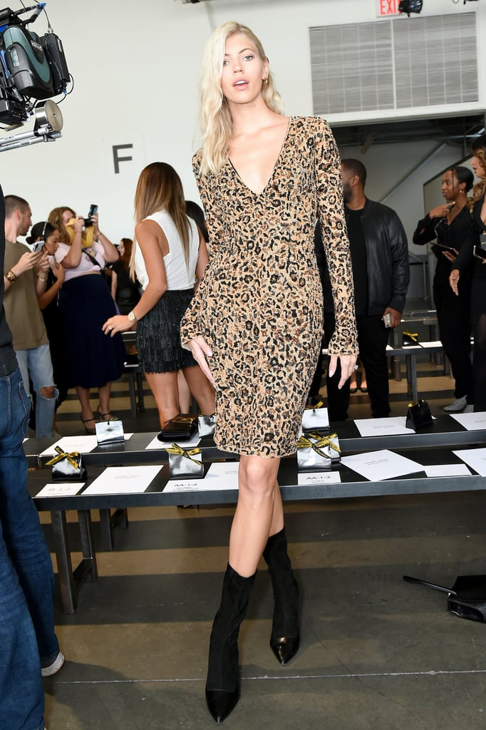 Devon Windsor at the Pamella Roland New York Fashion Week Show