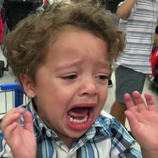 Boy Terrified of Donald Trump Mask