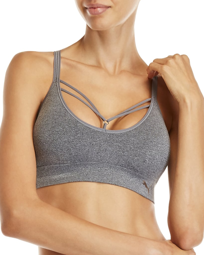 2cb7c72c76d39 Puma Seamless Arrow Strappy Sports Bra