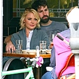 Katherine Heigl and Josh Kelley cuddled close during lunch.