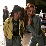 Lana Condor and Sophie Turner showed off their '80s style.