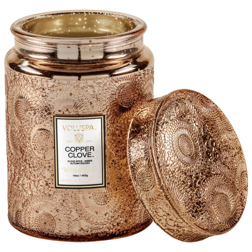 Voluspa Copper Clove Large Jar Candle
