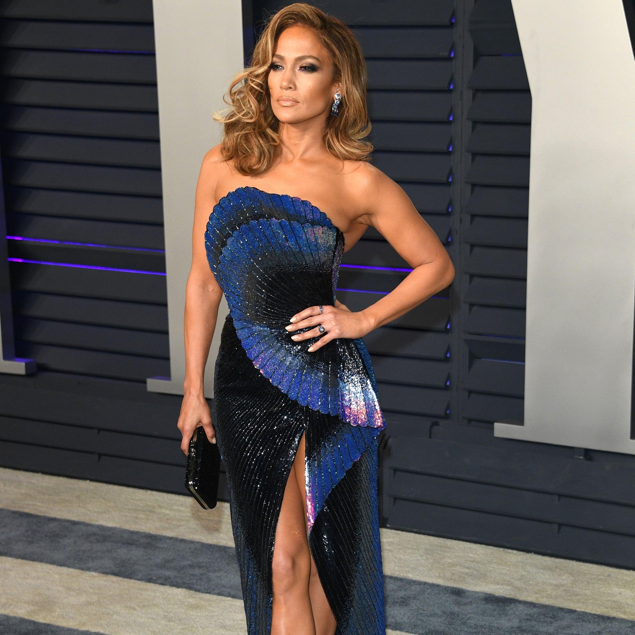 Jennifer Lopez Vanity Fair Oscar Party Dress 2019 Popsugar Fashion