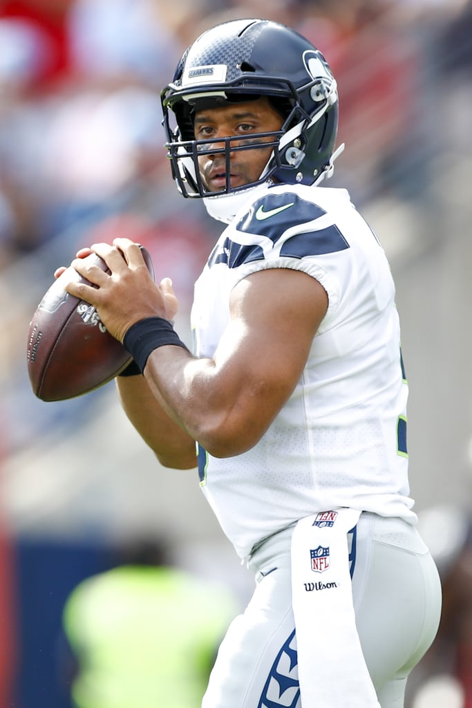 Seattle Seahawks player Russell Wilson has all the makings of a real-life Prince Charming. Not only does he have a heart of gold, but he's also a loving stepdad to his stepson, Future, and dotes on his wife, R&B singer Ciara, every chance he gets. Oh, and we can't forget to mention that he's super handsome! The 28-year-old NFL quarterback gives us hope that true gentlemen still exist. Scroll through to see all of the times Russell was one of the sexiest athletes in the NFL.       Related:                                                                                                           It's Your Lucky Day! See a Slew of Seattle Seahawks Players Shirtless on the Beach