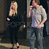 Jessica Simpson and Eric Johnson in Palm Springs.