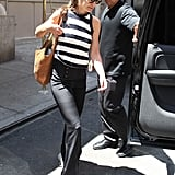 Katie Switches Up Her Stripes For a City Day With Suri