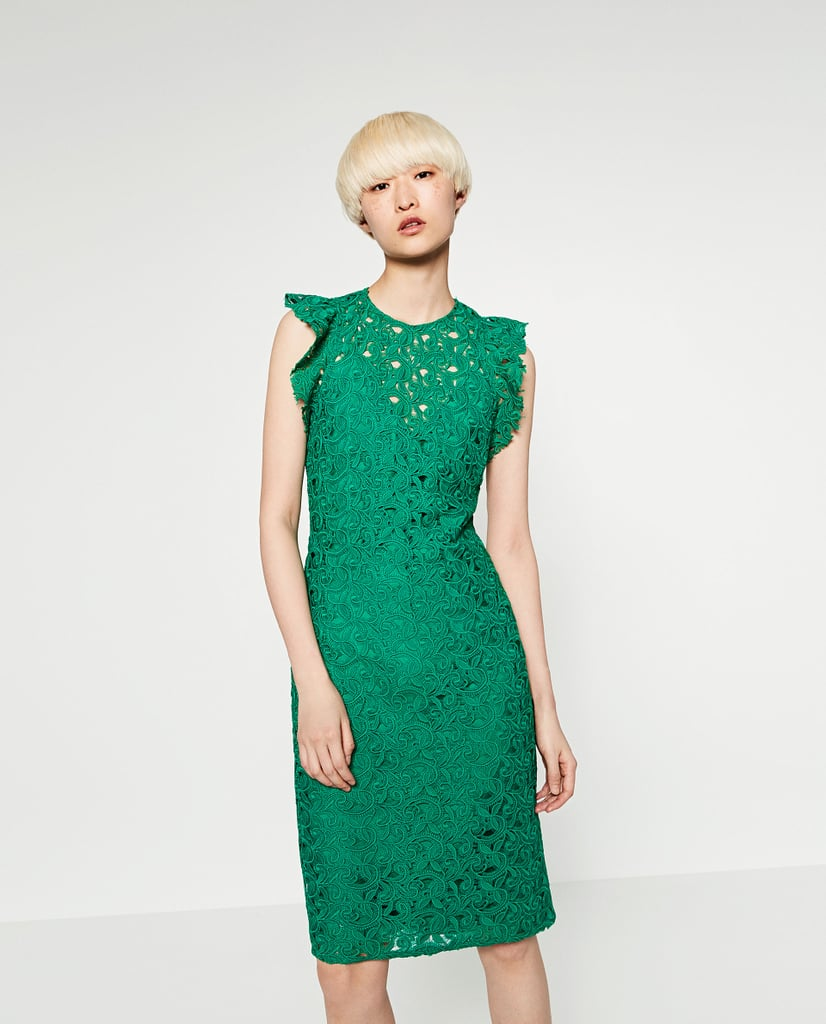 Zara Guipure Lace Tube Dress ($100) | Wedding Guest Dresses For ...