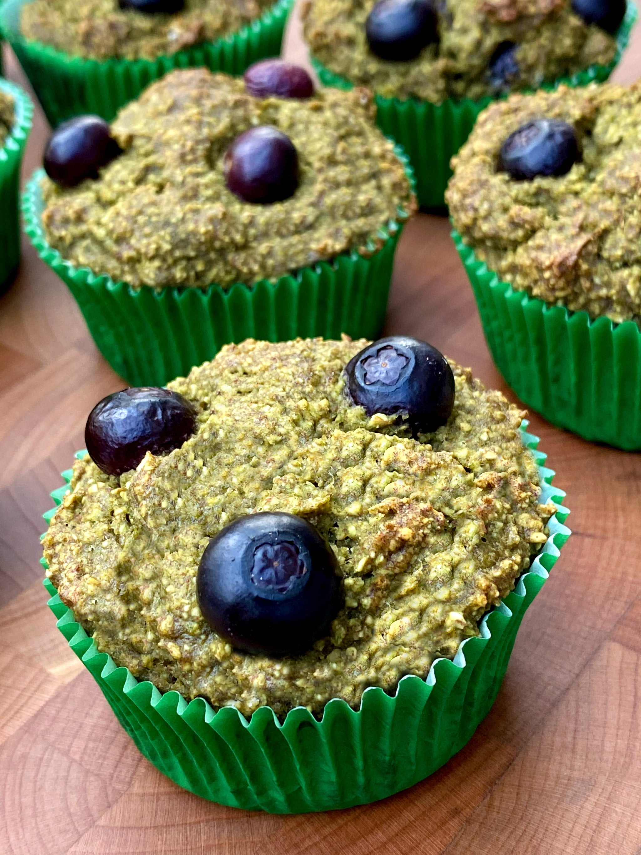 Refined-Sugar-Free Banana Blueberry Spinach Muffins 7