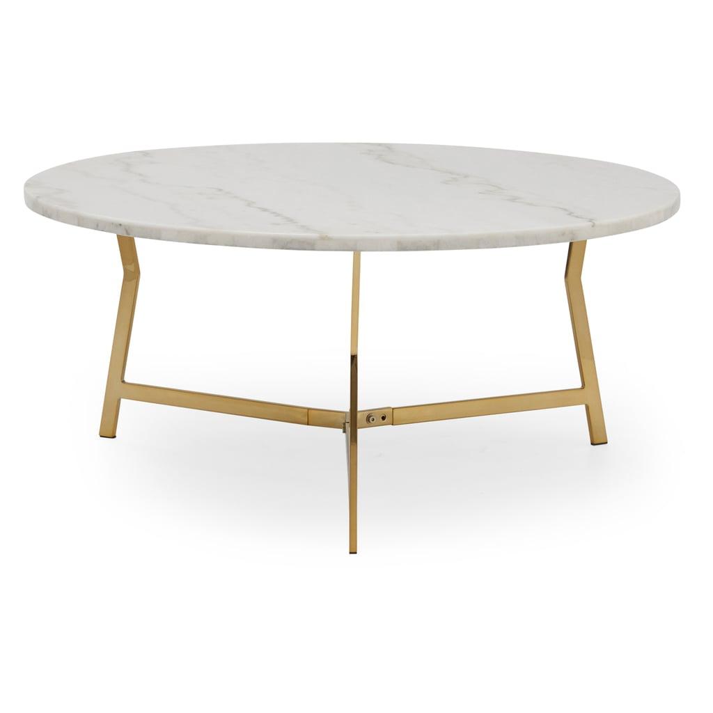 MoDRN Glam Lena Geo Base Coffee Table