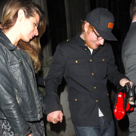 Ed Sheeran Gives Girlfriend His Sneakers While Leaving Club