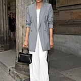 Ground Your White Separates With a Professional Blazer and Structured Bag