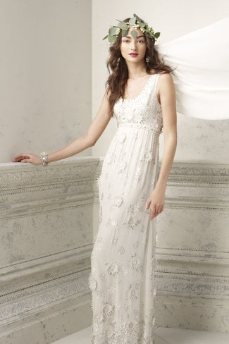 If you seek a laid-back vibe on your big day, then consider this There Is Only You and Me flower-appliqué tank dress ($800, originally $2,500) — it's special but not over the top.