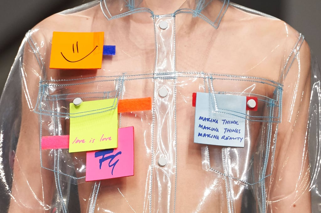 Fyodor Golan Post-It Notes London Fashion Week | Autumn 2017