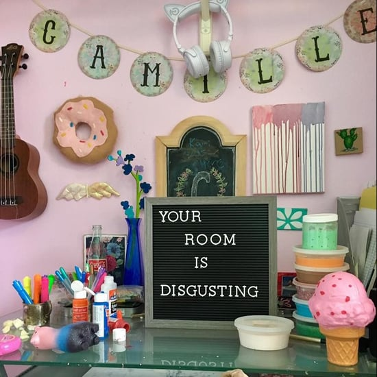 Mum's Funny Letter Board in Daughter's Messy Room