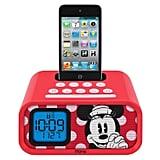 Minnie Mouse alarm clock/iPod dock ($58)