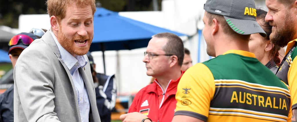 Prince Harry Tries on Speedo at Invictus Games 2018