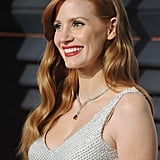 Jessica Chastain With Long, Wavy Hair in 2015