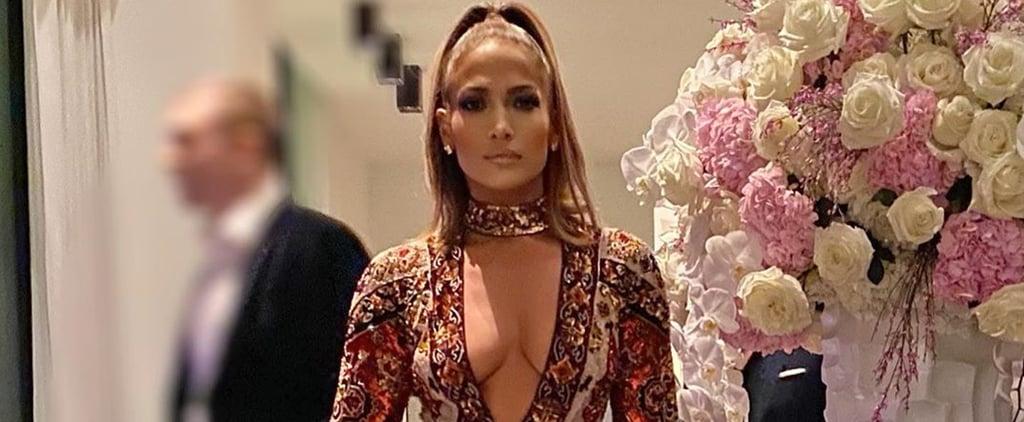 Jennifer Lopez's Zuhair Murad Dress at Super Bowl Preparty
