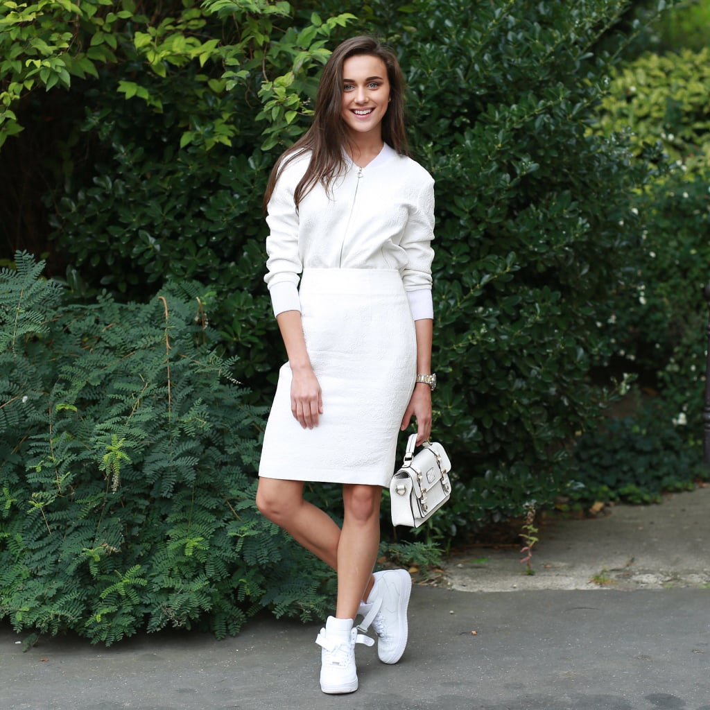 How to Wear Dress and Sneakers | POPSUGAR Fashion