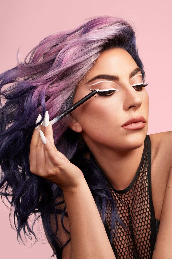 Lady Gaga Wearing  Haus Laboratories Eye-Dentify Gel Pencil Eyeliner