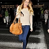 Lauren Conrad returned from NYC.