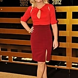 Amy Poehler wore a Black Halo dress at the Comedy Awards in NYC.