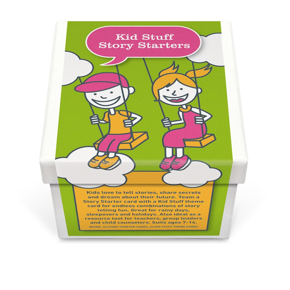 Kid Stuff Story Starter Conversation Cards ($20)
