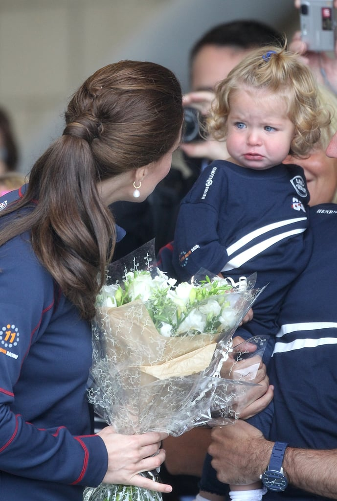 She helped soothe a crying little girl at an America's Cup event in England in June 2015.