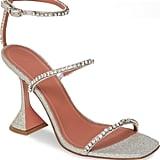 Amina Muaddi Gilda Crystal Ankle Strap Sandals