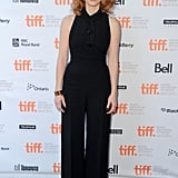 A chic Louis Vuitton jumpsuit for the Take Shelter premiere at the 2011 Toronto Film Festival.