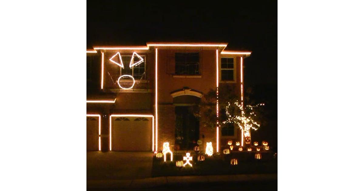 halloween house light show popsugar home