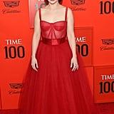 Emilia Clarke's Red Dolce & Gabbana Dress 2019 Time 100 Gala
