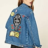 Forever 21 Love You Patched Denim Jacket