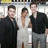 Shawn Mendes, Nick Jonas, and Priyanka Chopra