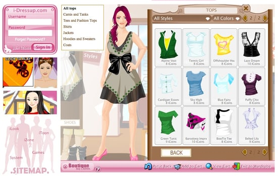 I-Dressup Lets You Play Virtual Dress Up