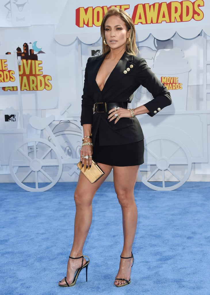 The star showed off her stems in Versus Versace at the MTV Movie Awards in April 2015.
