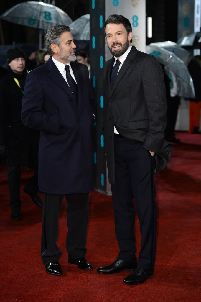 Ben Affleck and George Clooney hit the red carpet together at the BAFTA Awards in London — check out all the stars at the 2013 BAFTAs!
