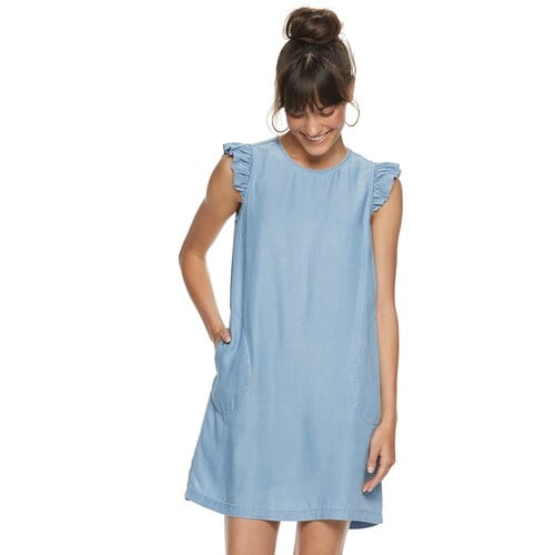 POPSUGAR Ruffle Sleeve Dress