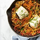 Baked Fish With Zucchini Noodles