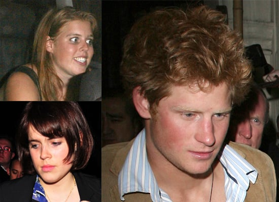 Prince Harry Parties with his Cousins Princess Beatrice and Princess Eugenie