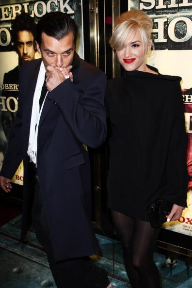 Gwen Stefani and Gavin Rossdale attended an afterparty following the world premiere of Sherlock Holmes in London in December 2009.