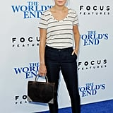 At the LA premiere of The World's End, Brie Larson looked cool and casual on the blue carpet.