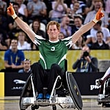 He played wheelchair rugby at the first Invictus Games in September 2014.