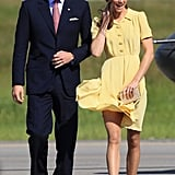 The Duke and Duchess were greeted in Calgary by fans.