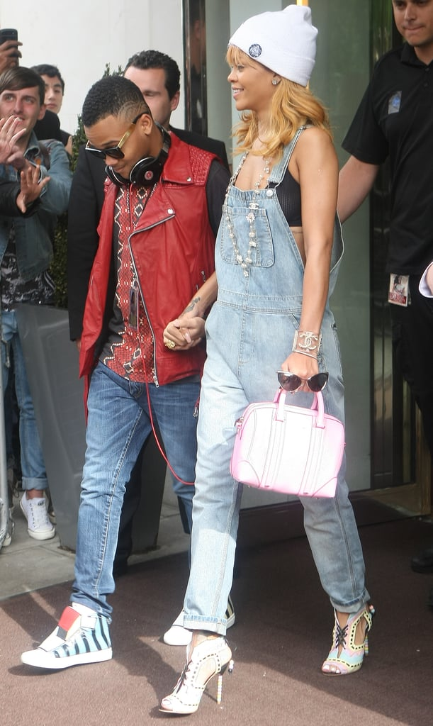 Rihanna's denim overalls aren't for the fashion shy — they'll definitely get you noticed and give you major fashion cred.
